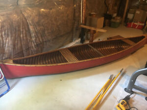 Gently Used Cedar Strip Canoe