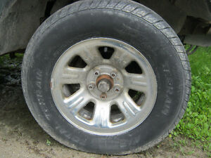 2000 Ford Ranger Chrome Rims & 225/70/15 Tires