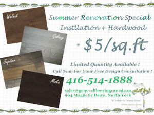 Summer Bundle Price! Hardwood Supply+Installation from $5/sq.ft!
