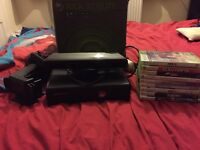 Xbox 360 slim 120GB with Kinect and TV Mount