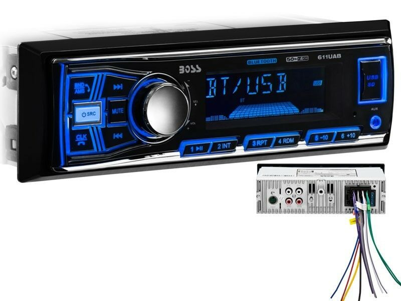Boss 611UAB In-Dash Digital Media Car Stereo Receiver+Bluetooth+AM//FM//USB//SD//AUX