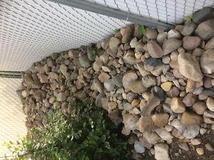 Tons or decorative rocks