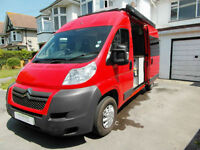 Citroen Relay Campervan - 4 Seatbelts - Rear Fixed Bed - Awning