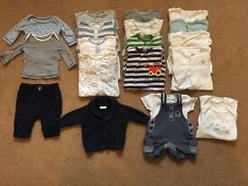 Bundle of baby boys clothes - up to 1 month