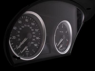 Gebraucht, M3 Optik Tachoringe Silber Matt Rings BMW E90 E91 E92 E93 X1 E84 M-LOOK Clipsen gebraucht kaufen  Mönchengladbach