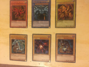 Yugioh cards mint condition holo cards limited edition