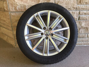 """OEM Tiguan 18"""" Tire Set with near New Continental Contisport"""