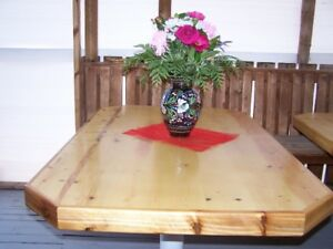 custom built Pine table - one of a kind