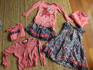 Lot de vêtements 5-6 ans MEXX fille couleurs rose-marine