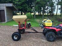 Engine driven seed / fertiliser spreader Honda Vicon Quad Bike petrol