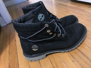 Black Timberland boots (size 12) foldable top