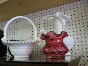 Fenton White Hobnail -- FROM PAST TIMES