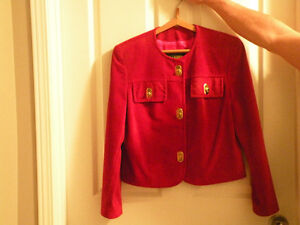 Danier red leather outfit for sale – hardly worn