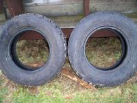 LT 225 75r 16 GoodYear snow tires - 1 week old