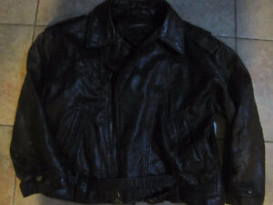 Leather Bomber Jacket ClubMonaco L