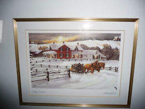 """Walter Campbell """"Country Homestead"""" Country Winter Scene Stratford Kitchener Area image 2"""