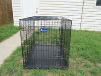 """42"""" wire dog kennel/crate + 42"""" sof-krate pet home"""
