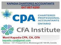 Tax, Incorporation by CPA CA CFA in Mississauga Brampton