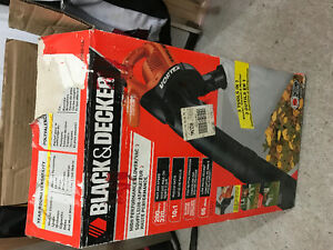 Black and decker leaf blower and vac