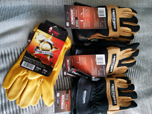 3 BRAND NEW PAIRS OF THINSULATE PURE LEATHER GLOVES. 1 PAIR OF