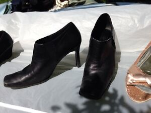 Variety of shoes, Nine West, black leather, gold shimmer shoes London Ontario image 2