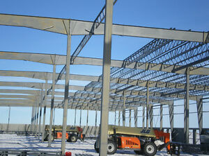 WE ERECT STEEL BUILDINGS IN THE TRENTON AREA..