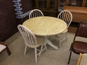HFH ReStore EAST - Wood Table and 3 chairs