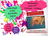 Paint Night 7- 9pm Wednesday June 7th.  (Public Welcome)