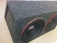 "2 MTX 12"" 400W RMS Subwoofers"