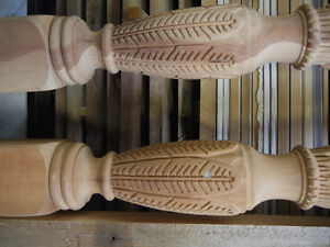 Hand Carved Cherry Rice Bed Legs - Some Wood Work Required Kitchener / Waterloo Kitchener Area image 1