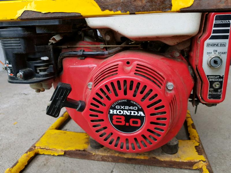 Honda generator 8HP, key start   in Galashiels, Scottish Borders   Gumtree