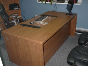 Oak Laminate Wood Office/Student Desk