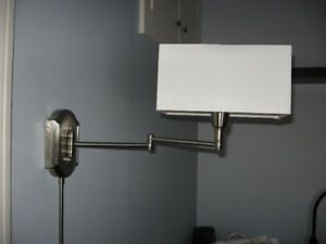 Brushed Nickel touch  Wall Mount Bedroom Light Fixture