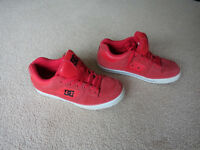 Red DC skate shoes, size 11