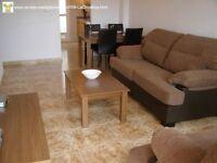 Costa Blanca. 2nd floor apt, English TV, A/C, Communal pool, sleeps 4 - £480pm (SM058)