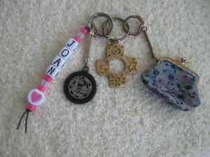 ...FOUR .Attractive and Unusual Key Chains...