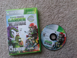 plants v.s zombies garden warfare 1) game disc for Xbox 360.