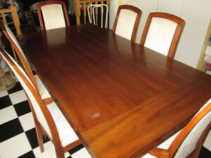 Mid century 7pc solid wood dining set
