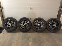 "17"" Sacchi 262 Rims with Goodyear Assurance Tires 235/55/R17"