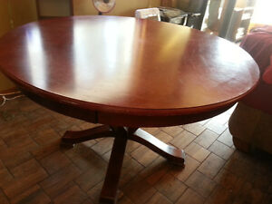 Cherry coloured dining table for sale..REDUCED