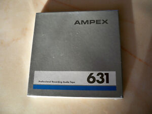 """NEW Ampex 7"""" Pro 631 open reel tapes (sealed)"""
