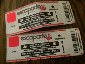 CHEAP ESCAPADE TICKETS FOR SALE!!!!