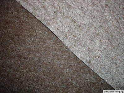 1 Lfm DEKO- und Bastelfilz 6,63€/m² braun beige meliert reine Wolle (35)