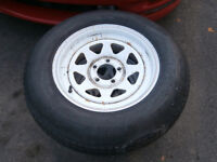 "2 15"" trailer wheels 225 /15 tire's not bad but for rims asking"