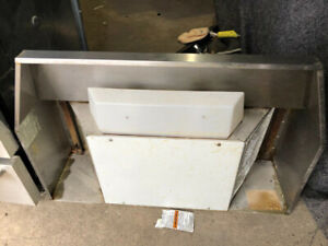 """Broan stainless steel 30"""" over the range hood exhaust fan system"""