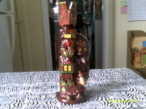 INDIAN AND TOTEM POLE DECANTER