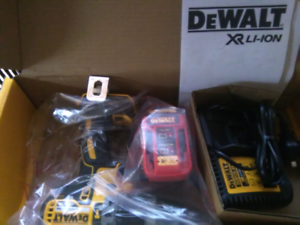 Brand New! Dewalt drill, battery and charger