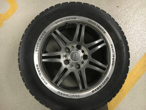 "16"" BF Goodrich winter M&S tires on Momocorse steel alloy rims"