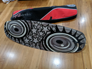 Liquid Nitro 55inch wake board bindings and new bag