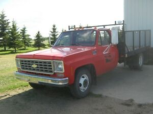 1976 Chevrolet 30 one ton with a 10 foot long X 7 FT 11 inch wid